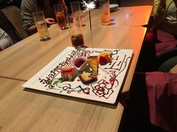 誕生日ケーキお祝い梅田