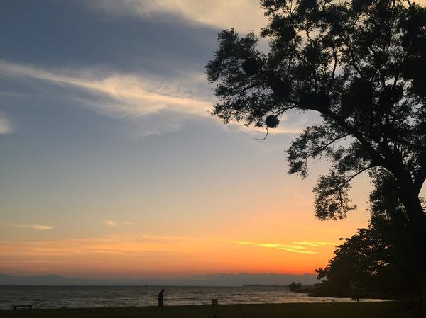夕日琵琶湖夕日百選綺麗